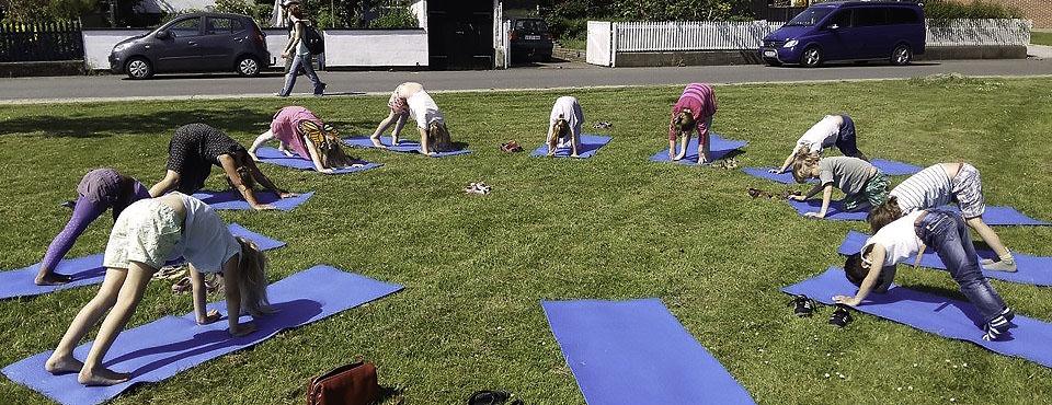 Yoga i Anlægget